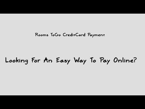 Rooms To Go Credit Card Payment Online - YouTube