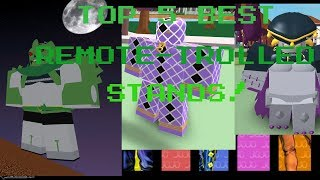 ROBLOX PJJ: TOP 5 (BEST) REMOTE-CONTROLLED STANDS!