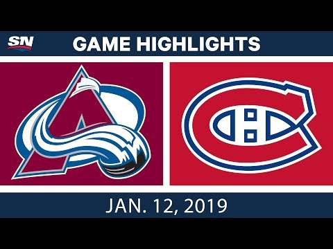 NHL Highlights | Avalanche vs. Canadiens - Jan.  12, 2019