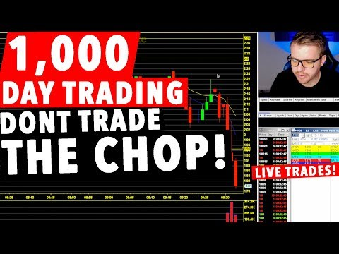 1,000 Dollar Day Trading LIVE! DON'T TRADE THE CHOP!