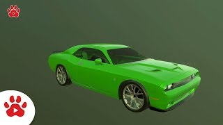Dodge Charger Dashy Crashy Challenger   Super Cars for Kids   #h Colour Song for Kids