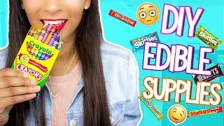 DIY Edible School Supplies! PRANKS for Back to School 2017!! Kayla Marie