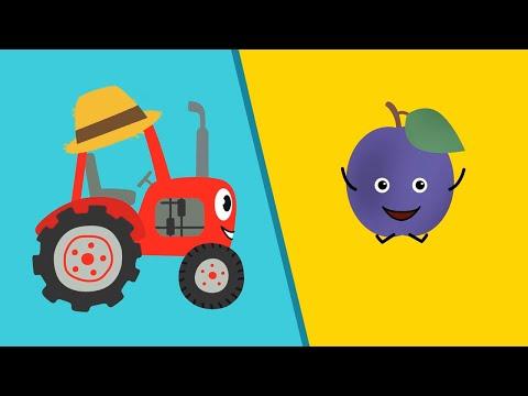 🍎🍍ФРУКТЫ - Песенки про еду! Красный трактор едет и поёт - Сборник (Овощи, За маму, Животные)