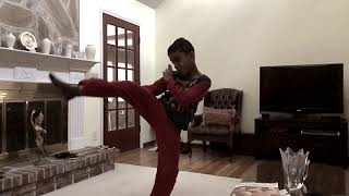 Slow motion front kick