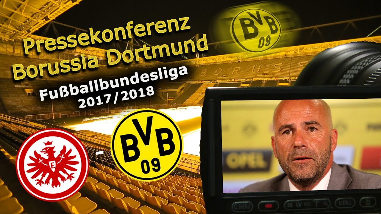 SG Eintracht Frankfurt - Borussia Dortmund: Pk mit Peter Bosz
