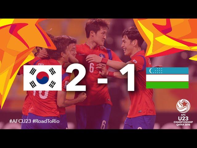 Video: U23 Hàn Quốc vs U23 Uzbekistan