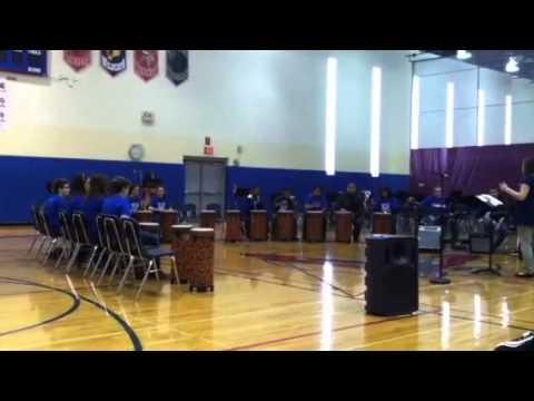 Beach Park Middle School, in Illinois,  African Drums group