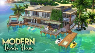 The Sims 4: Island Living | MODERN BEACH HOUSE | NO CC Speed Build