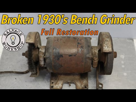 90 Year Old Bench Grinder ~ RESTORATION ~ How Did This One SURVIVE The WWII Scrap Yard?