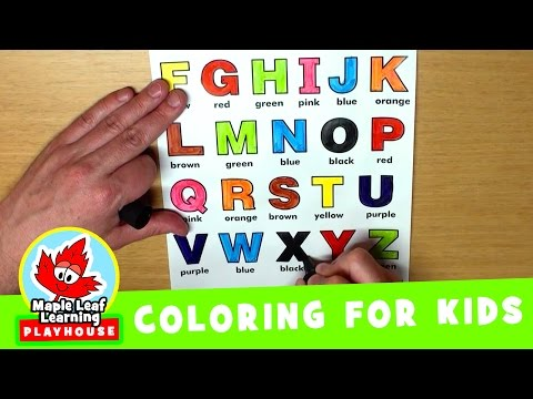 Alphabet Coloring Page for Kids | Maple Leaf Learning Playhouse