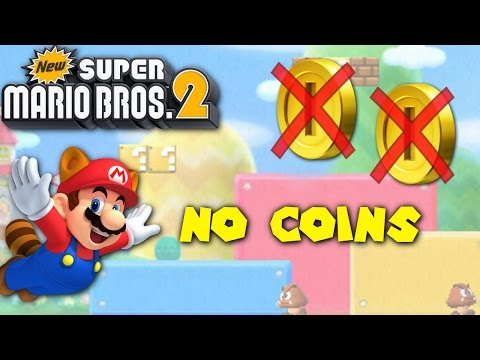 New Super Mario Bros. 2 - Can you beat the game with no Coins?