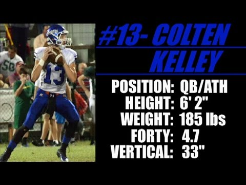 2016 'Street Light Recruiting' QB- COLTEN KELLEY (6' 2''- 185 Lbs) CRENSHAW CHRISTIAN ACADEMY (AL)