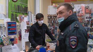В городе продолжаются проверки соблюдения масочного режима в магазинах