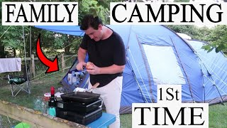 FAMILY CAMPING VLOG | SITE REVIEW | OUTDOOR POOL