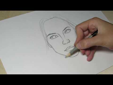 Как рисовать лицо девушки карандашом