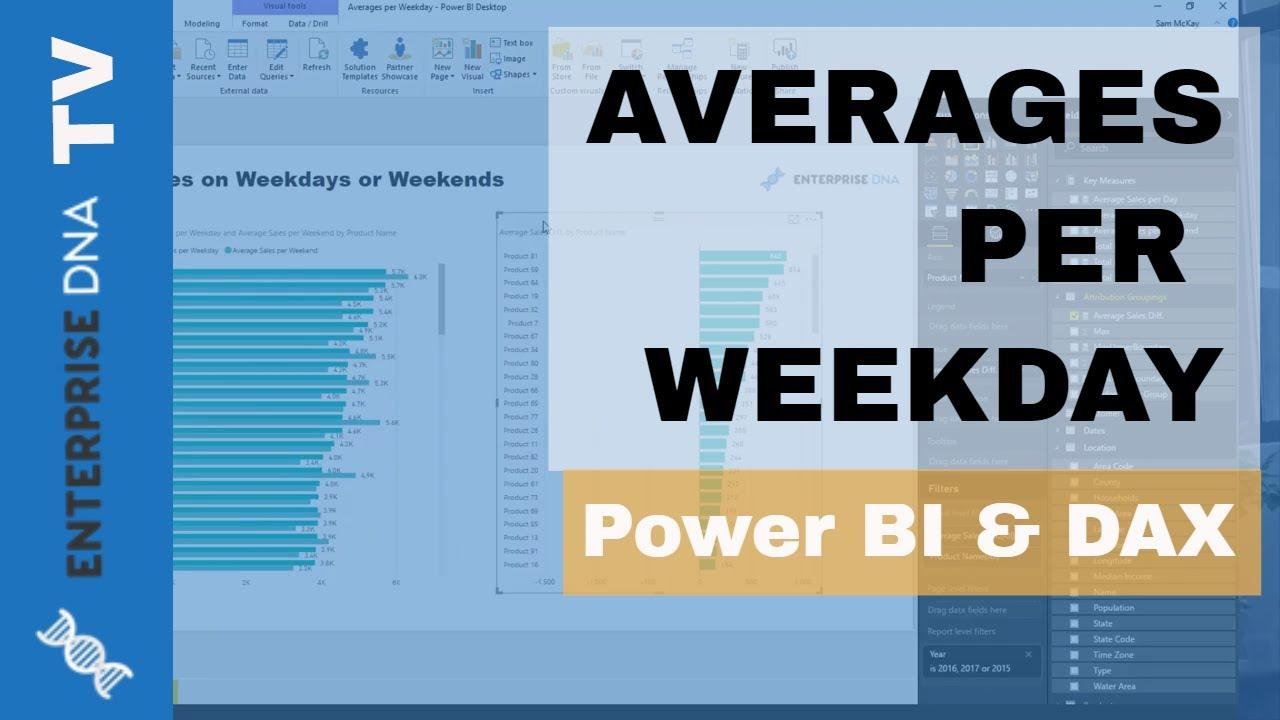 Calculating Averages per Weekdays w/DAX in Power BI