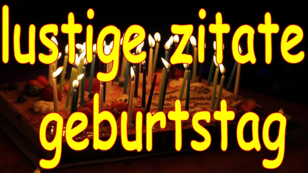 Lustige Zitate Geburtstag  F F  A Youtube