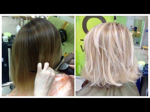 Осветление волос: холодный блондин / бежевый оттенок / Highlights: Cool Blonde / Beige Blond