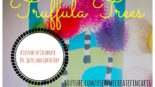 Truffula Trees: A Preschool Printing with Koosh Balls