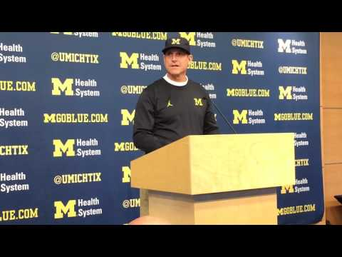 Watch Jim Harbaugh's Pre-Ohio State Conference