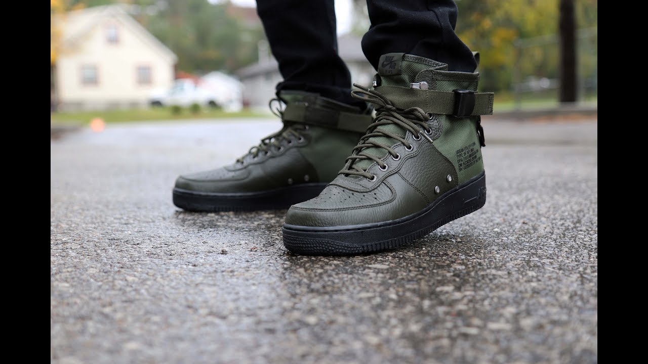 Unboxing Review Nike Sf Air Force 1 Mid Sequoia Youtube