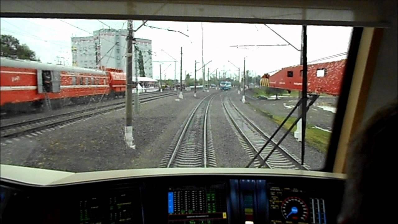 Видео Видео из кабины электровоза ЧС6 с поездом