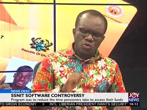 SSNIT IT System Controversy - News Desk on Joy News (24-8-17)