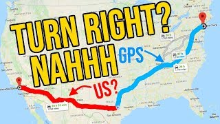 Can you set the GPS to New York and do the opposite to get to LA? We tried and this is what happend