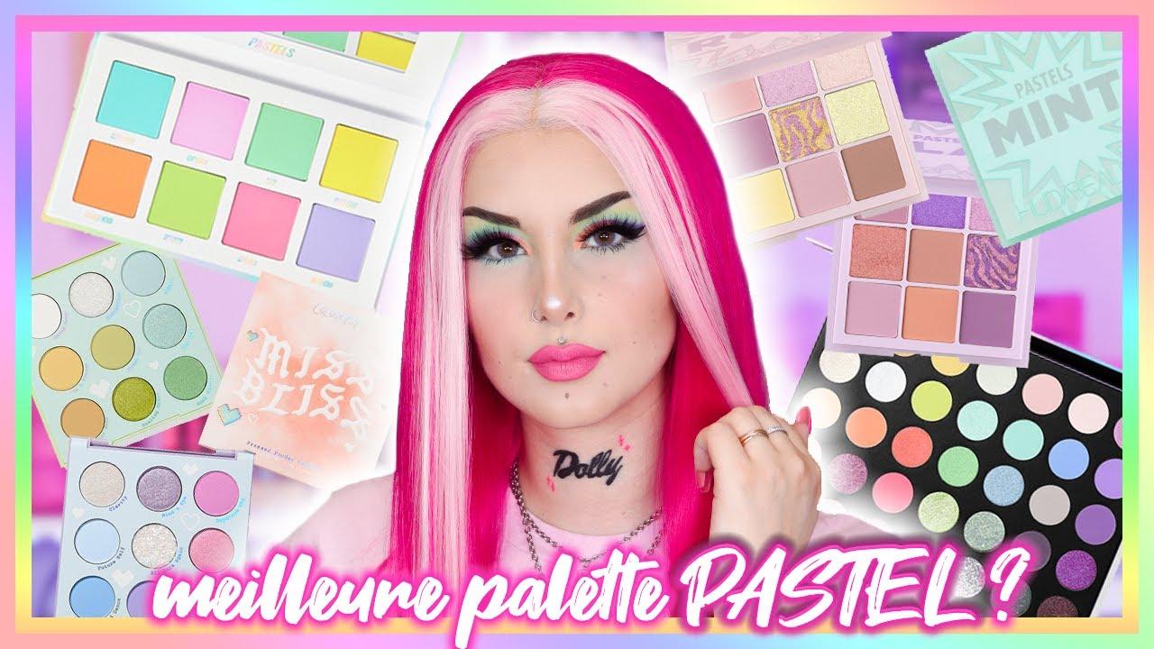 MEILLEURE PALETTE PASTEL? 🎨 GROS CRASH TEST: ColourPop, BeautyBay, Morphe & Huda