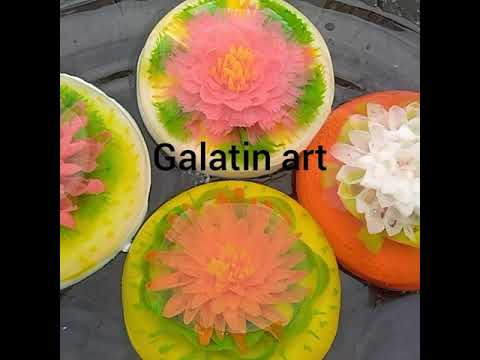 Galatin Art Kwiaty W Galaretce Youtube