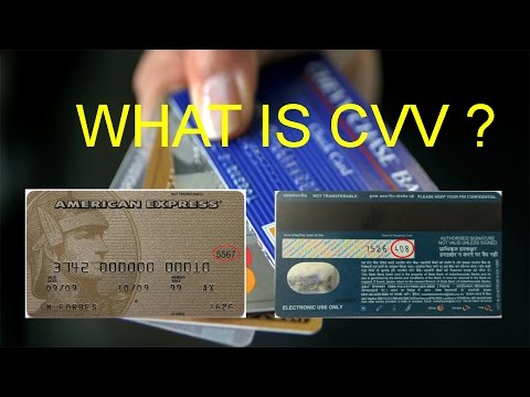What is cvv number on credit or debit card???
