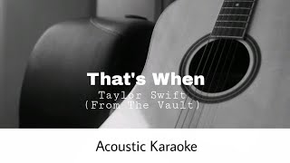 Taylor swift - that's when (from the vault) original songhttps://youtu.be/aoa6d6ku3dm#taylorswift #thatswhen