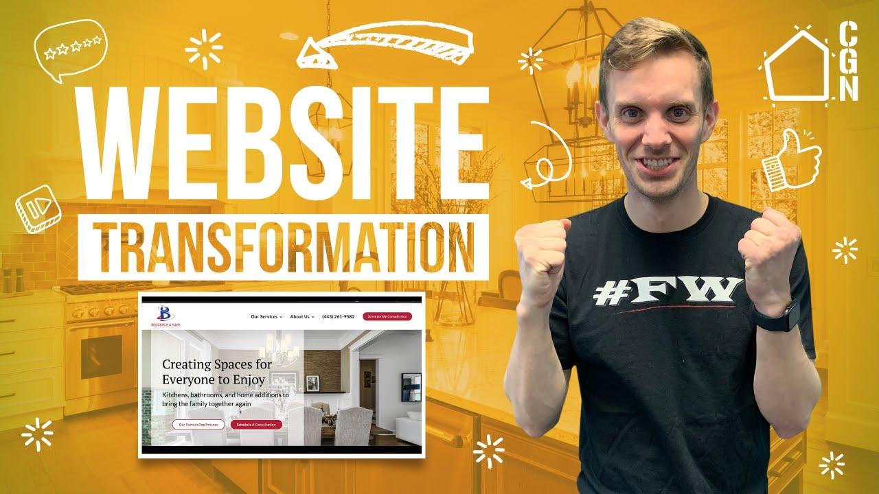 Website Design Secrets For Kitchen Remodeling Contractors | Website Transformation