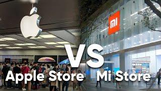 Сравнение Apple Store против Xiaomi Mi Store.