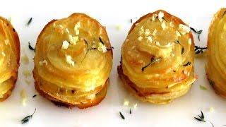 [КАРТОФЕЛЬНЫЙ ГАРНИР] Запеченный картофель в духовке с сыром и ароматными травами