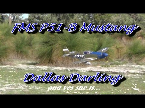 FMS P51 Mustang DALLAS DARLING Maiden day HD