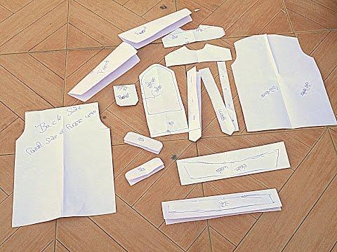 2. Making Drafts of Kurta - ★★Punjabi Kurta Pajama★★ PUNJABI