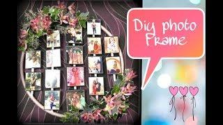 #DIY PHOTO FRAME  | cute , easy & affordable diy idea .