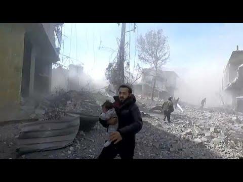 Suriye: Doğu Guta'da siviller saldırı altında