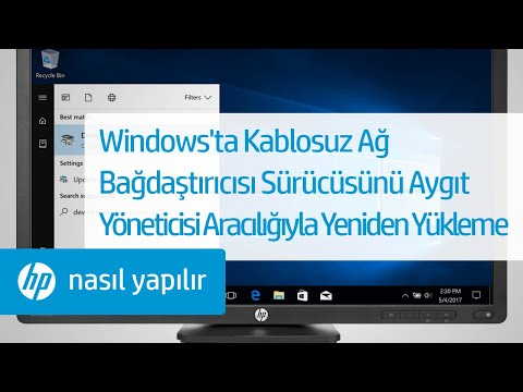 Windows'ta Kablosuz Ağ Bağdaştırıcısı Sürücüsünü Aygıt Yöneticisi Aracılığıyla Yeniden Yükleme