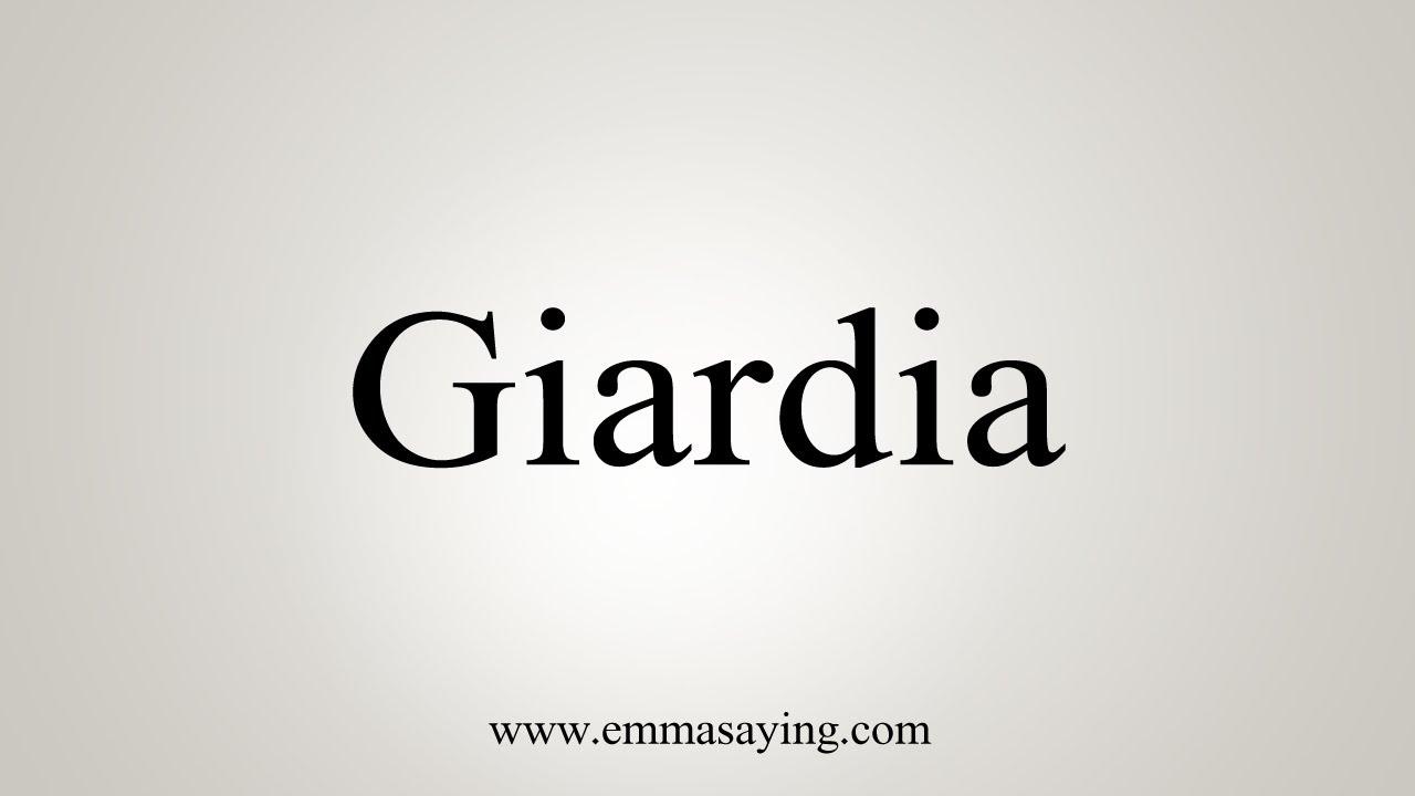 giardia word meaning