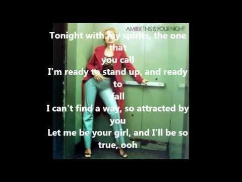 Amber- This is your night lyrics