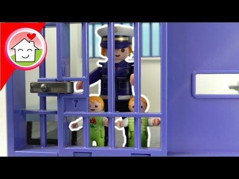 Playmobil Polizei Film deutsch - Polizei Kommissar Overbeck Mega Pack mit Familie Hauser für Kinder