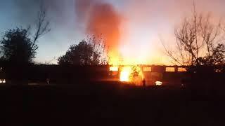 В Заводском районе каждый месяц горит заброшенный элеватор