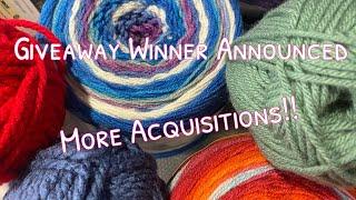 Crochet and Knit Chat # 50 | Giveaway Winner | Michael's Clearance Yarn Haul | Ice yarn Haul