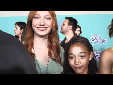 Jacqueline Emerson & Amandla Stenberg of THE HUNGER GAMES at the HALO Awards!
