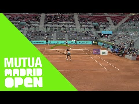 Serena Williams vs Sloane Stephens: Forehand Topspin volley