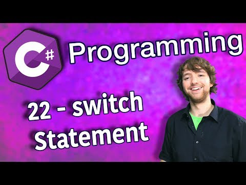 C# Programming Tutorial 22 - Switch Statement