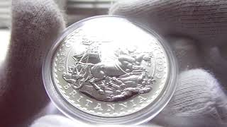 Серебряная монета Британия 1999 г.