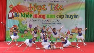 Bài nhảy Aerobic cực hay của các bé mầm non 5 tuổi, Kênh Em Bé ♥